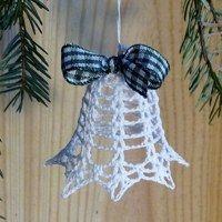 Crochet Christmas Decorations, Christmas Tree Pattern, Crochet Christmas Ornaments, Christmas Crochet Patterns, Christmas Crafts, Christmas Bells, Christmas Angels, Crochet Snowflake Pattern, Crochet Snowflakes