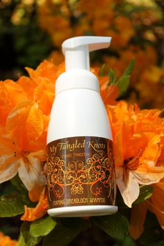 Residue Free Foaming Dreadlock Shampoo Orange-Tangerine. $10.00, via Etsy.