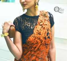 We at Suman Bajaj Sarees are big fans of lace.