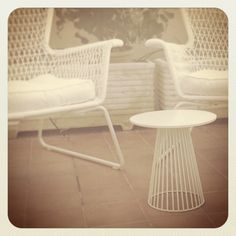 Little table, Antonino Sciortino. Ikea chairs.
