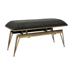 Don Metal Bench Imax Benches Accent & Storage Benches Accent Furniture Metal Garden Benches, Metal Stool, Bench With Storage, Storage Benches, Chair Types, Upholstered Bench, Boutique, Unique Home Decor, Modern Decor