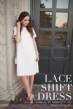 Merricks Art: LACE SHIFT DRESS TUTORIAL Great tutorial for doing a fully lined dress!