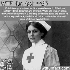 The nurse that survived three ship sinking - WTF fun facts