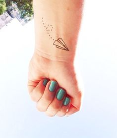 2pcs papier petit avion - tatouage temporaire InknArt - poignet devis tatouage autocollant faux tatouage mariage tatouage petit tatouage de ...