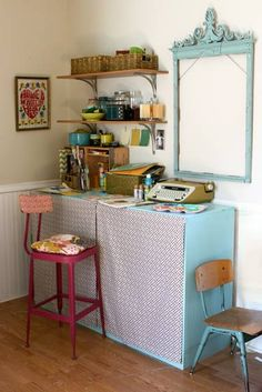 I have a craft space, but I'd love it if it were cute like this one.