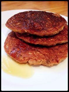 Pancakes banane flocons d'avoine Gateaux Vegan, Weird Food, Love Cake, Crepes, Granola, Bakery, Good Food, Food Porn, Healthy Recipes