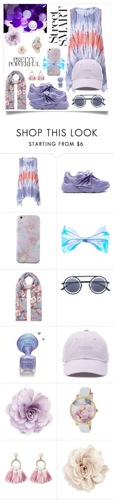 """🦄🌂"" by snyacaa ❤ liked on Polyvore featuring Puma, Accessorize, Mykita, Vans, Cara, Ted Baker and SUGARFIX by BaubleBar"