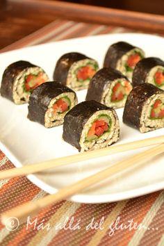 RAW Sushi (Receta Vegana, RAW)  Libre de gluten Libre de lácteos Libre de azúcar