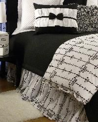 Tuxedo Bedding for Girls and Teens - Black and White Bedding