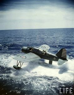 Vought Kingfisher OS2U floatplane in US Navy service