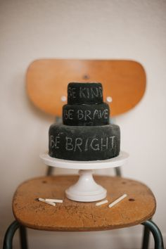 chalkboard cake that you can eat