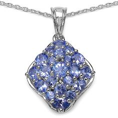 Malaika Sterling Silver 2 3/4ct Tanzanite Pendant ($71) ❤ liked on Polyvore featuring jewelry, pendants, blue, charm pendant, polish jewelry, tanzanite pendant, tanzanite jewellery and blue jewelry