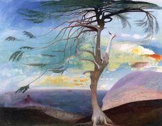 Tivadar Kosztka Csontváry Magányos cédrus (Hungarian Modernist Painter The Solitary Cedar, 1907 oil on canvas, Height: 194 cm in). Framed Wall Art, Framed Art Prints, Painting Prints, Paintings, Painting Art, Canvas Art, Canvas Prints, Artist Canvas, Watercolor On Wood