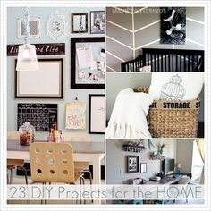 23 DIY Projects for the Home. #DIY #home_improvement