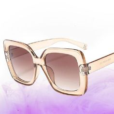 Square Large Sixties Sunglasses- Polly Loose Chignon, Chignon Bun, Buy Sunglasses Online, Cool Sunglasses, Gradient Color, Lenses, Frames, Eye, Awesome