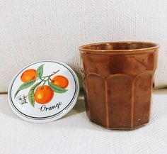 Vintage Jelly Jam Jar with Lid Unmarked Orange Blossom 12 Oz Retro Country  | eBay