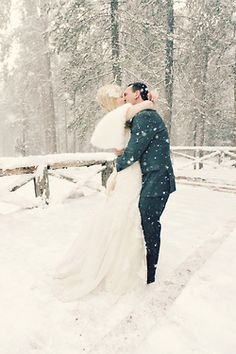 If only you could control the weather...  #Snow falling for a  magical winter wonderland #wedding.
