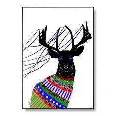 Jeleń color - plakat