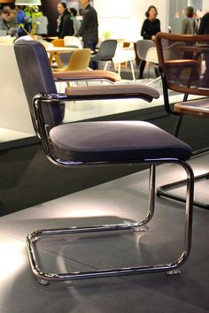 Leather Thonet chair /// More on Interiorator.com
