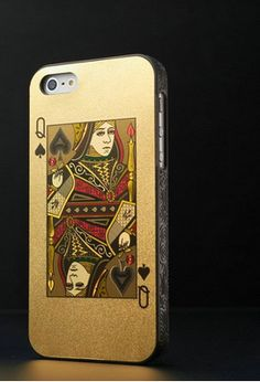 Iphone 5/5s poker cover: QUEEN