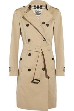 Must-Have: A tan trench coat: Cotton-Twill Trench Coat by Burberry London