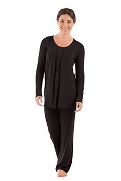 f5a851f535 Texere Womens Long Sleeve Pajama Set Replenish Black 3X Great Gifts for  Women WB0006BLK3X  gt