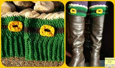 Find your inner Leprechaun with these fun and adjustable St. Patrick's Day boot cuffs! Free crochet pattern