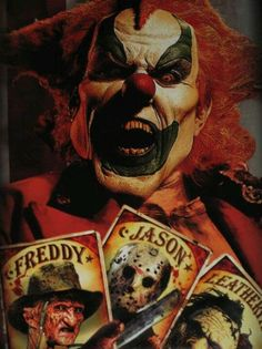 As horrible as the clown is, I love the cards of the killers!!!