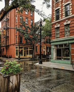 Wet pavement always makes things look like they smell wet and it's not fair City Aesthetic, Travel Aesthetic, The Places Youll Go, Places To Visit, City Vibe, West Village, City Streets, Cities, Places To Travel