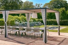 Hedges House | Hollander Design Live Edge Furniture, Outdoor Furniture, Foundation Planting, Shade Structure, White Gardens, Park Avenue, Hedges, Water Features, Garden Landscaping