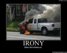 Irony - When Life Imitates Art.  (Nice flame decals)