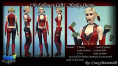 Arkham Cities Harley Quinn at Crazy Mammoth via Sims 4 Updates