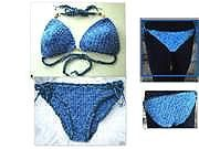 3 piece Bikini Set, CROCHET PATTERN,  Top, String Bottom, and Brazilian Bottom.  Ok to sell them