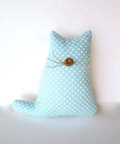 cat lover pastel mint pillow green pillow cat by whimsysweetwhimsy, $16.00