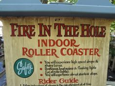 This is at Silver Dollar City in Branson, MO. I have been on this multiple times. Fun because it's dark and you can't see what is coming up next.....