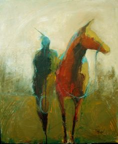 """Guardians Horse"" by Cathy Hegman Native American Indian"