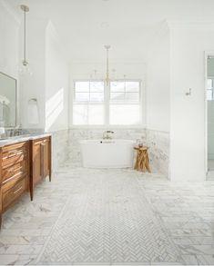 MSI Carrara 12 in. / – The Home Depot – Marble Bathroom Dreams Carrara Marble Bathroom, White Marble Bathrooms, Bathroom Floor Tiles, Shower Floor, Tile Floor, Marble Mosaic, Tile Bathrooms, Calacatta Marble, Dream Bathrooms
