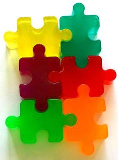 Puzzle Pieces Soap - Puzzle Soaps - Set of 4 - Birthday Party Favors for Kids - Free U. Puzzle Party, Soap Favors, 4th Birthday Parties, Puzzles For Kids, Birthday Party Favors, Puzzle Pieces, Color Show, Soaps, Gift Tags