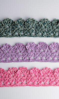 Bordures au crochet - patrons gratuits sur ravelry