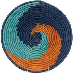 African Basket - Uganda - Bukedo & Raffia Bowl - 12 Inches Across - #UR4212