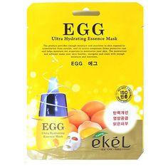 EKEL Egg Ultra-Hydrating Essence Facial Mask Sheet Pack 1PCS K-Beauty #EKEL