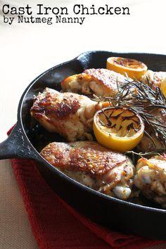 Cast Iron Chicken via Nutmeg Nanny