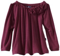 Kicky Pants Baby-Girls Infant Long Sleeved Flower Tee, Grapevine, 18-24 Months « Clothing Impulse