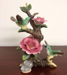 Mauve flower with birds figurine   $4.88
