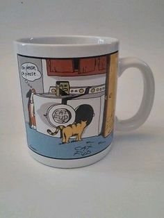 The Far Side Cat Fud Coffee Cup
