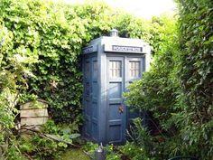 Quirky Garden Shed - TARDIS in the Garden