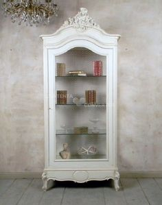 Single Door Display Cabinet from castleantiquesinc on Ruby Lane