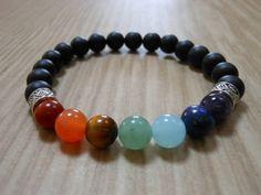Chakra Bracelet Healing & Balancing Mala by HickorySpringsDesign