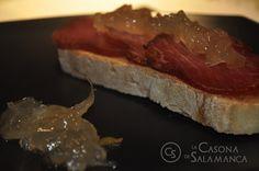 #Lomo #ibérico con mermelada de cebolla.