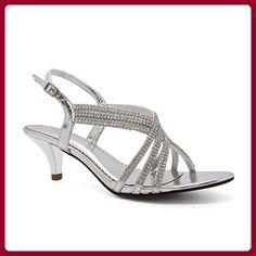 London Footwear , Damen Sandalen Silber silber - Sandalen für frauen (*Partner-Link)